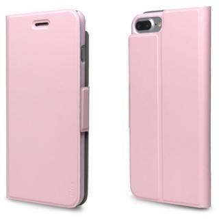超薄型手帳型PUレザーケース TORRIO ピンク iPhone 7 Plus【3月中旬】