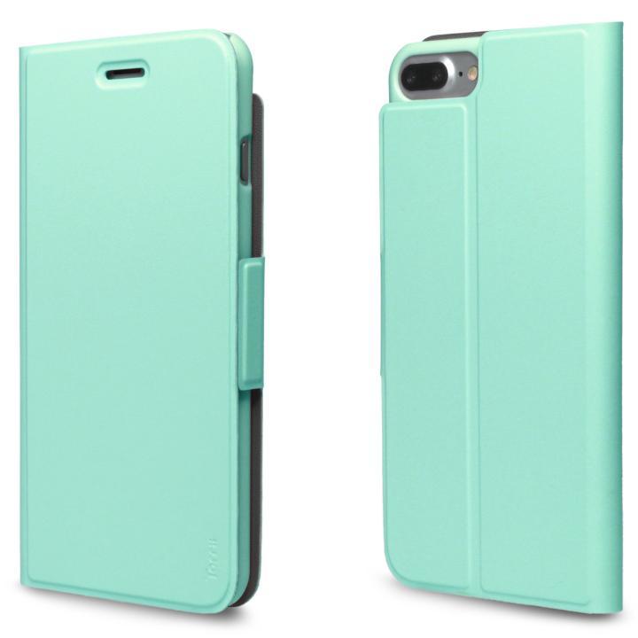 iPhone7 Plus ケース 超薄型手帳型PUレザーケース TORRIO ライトグリーン iPhone 7 Plus_0