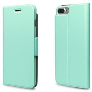 超薄型手帳型PUレザーケース TORRIO ライトグリーン iPhone 7 Plus