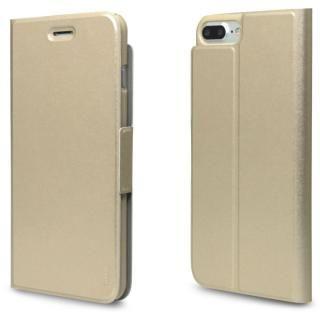 【iPhone7 Plusケース】超薄型手帳型PUレザーケース TORRIO ゴールド iPhone 7 Plus