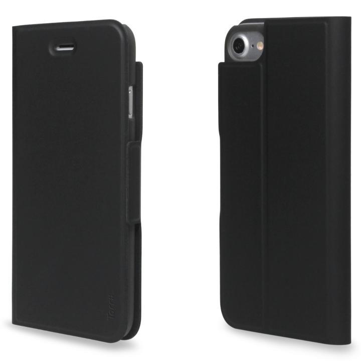 【iPhone7ケース】超薄型手帳型PUレザーケース TORRIO ブラック iPhone 7_0