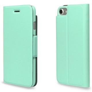 超薄型手帳型PUレザーケース TORRIO ライトグリーン iPhone 7【3月上旬】