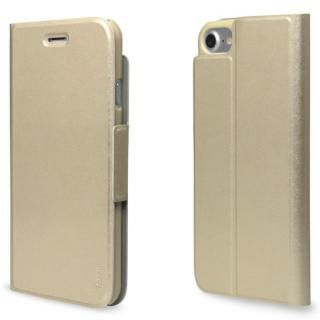 【iPhone7ケース】超薄型手帳型PUレザーケース TORRIO ゴールド iPhone 7