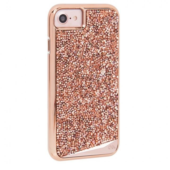 iPhone8/7/6s/6 ケース Case-Mate Brillianceケース Rose Gold iPhone SE 第2世代/8/7/6s/6_0