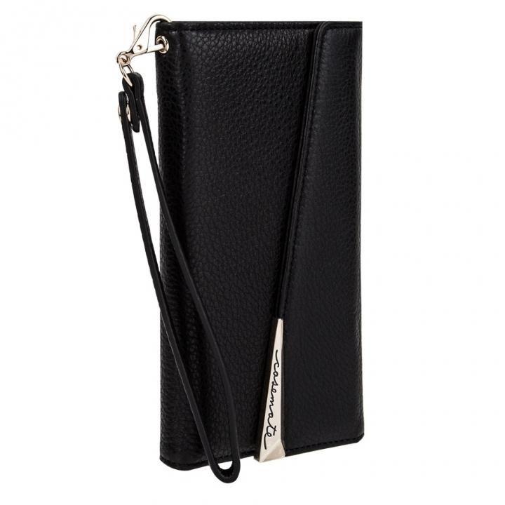 iPhone8/7/6s/6 ケース Case-Mate Leather Wrsitlet Folio ブラック iPhone SE 第2世代/8/7/6s/6_0