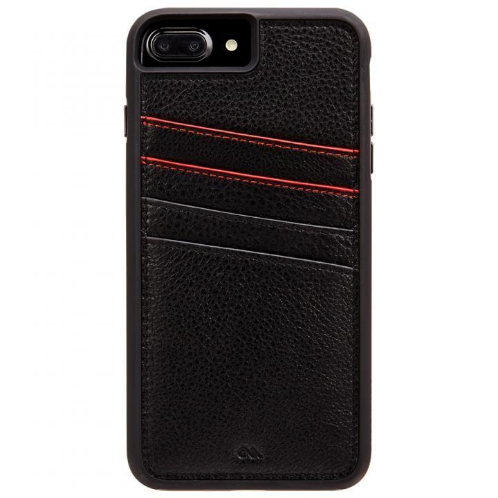 Case-Mate Tough カードポケットケース ブラック iPhone 8 Plus/7 Plus/6s Plus/6 Plus