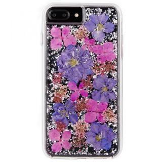 【iPhone8 Plus/7 Plusケース】Case-Mate Karat ドライフラワーケース パープル iPhone 8 Plus/7 Plus/6s Plus/6 Plus