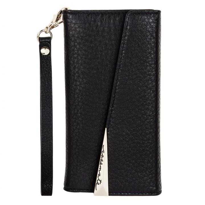 【iPhone8 Plus/7 Plusケース】Case-Mate Leather Wrsitlet Folio ブラック iPhone 8 Plus/7 Plus/6s Plus/6 Plus_0