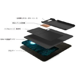 【iPhone7ケース】LINKBOOK PRO 4Gシグナル拡張手帳型ケース ブラック iPhone 7_5