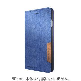 LINKBOOK PRO 4Gシグナル拡張手帳型ケース デニム iPhone 7【10月上旬】