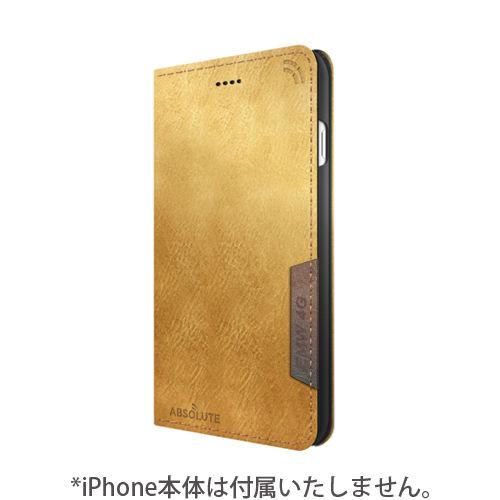 iPhone7 ケース LINKBOOK PRO 4Gシグナル拡張手帳型ケース ライトブラウン iPhone 7_0