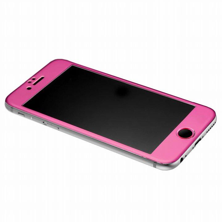 iPhone6s/6 [0.33mm]強化ガラス一体型アルミパネル iFinger セット ピンク iPhone 6s/6_0