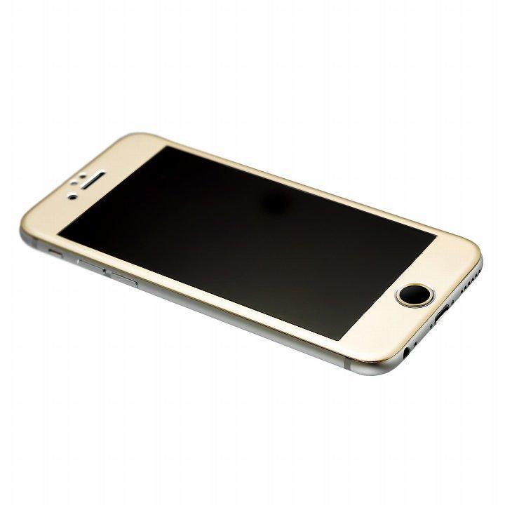 【iPhone6】[0.33mm]強化ガラス一体型アルミパネル iFinger セット ゴールド iPhone 6_0