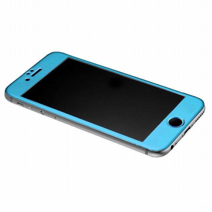 【iPhone6】[0.33mm]強化ガラス一体型アルミパネル iFinger セット ブルー iPhone 6_0