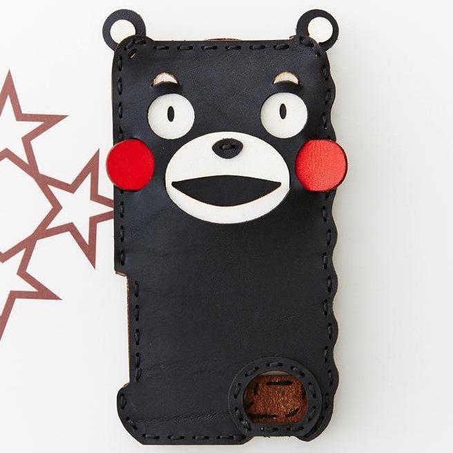 iPhone SE/5s/5 ケース くまモン iPhone SE/5s/5ケース/黒_0