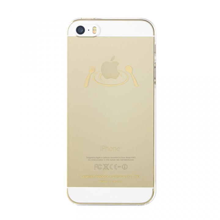 iPhone SE/5s/5 ケース iTattoo5 iPhone SE/5s/5ケース Main Dish ゴールド_0