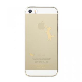 iPhone SE/5s/5 ケース iTattoo5 iPhone SE/5s/5ケース Neko Jump ゴールド