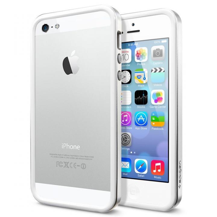【iPhone SE/5s/5ケース】iPhone SE/5s/5 ケース ネオ・ハイブリッド EXスリム メタルシリーズ [サテン・シルバー]_0