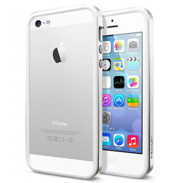 iPhone SE/5s/5 ケース ネオ・ハイブリッド EXスリム メタルシリーズ [サテン・シルバー]