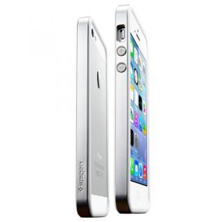 【iPhone SE/5s/5ケース】iPhone SE/5s/5 ケース ネオ・ハイブリッド EXスリム メタルシリーズ [サテン・シルバー]_1