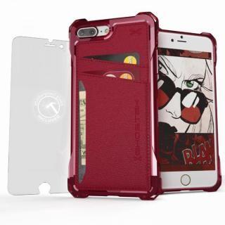 iPhone7 Plus ケース TPU+PUレザー ハイブリッドウォレットケース Ghostek Exec レッド iPhone 7 Plus