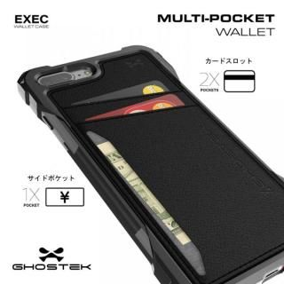【iPhone7 Plusケース】TPU+PUレザー ハイブリッドウォレットケース Ghostek Exec ゴールド iPhone 7 Plus_5