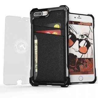 TPU+PUレザー ハイブリッドウォレットケース Ghostek Exec ブラック iPhone 7 Plus