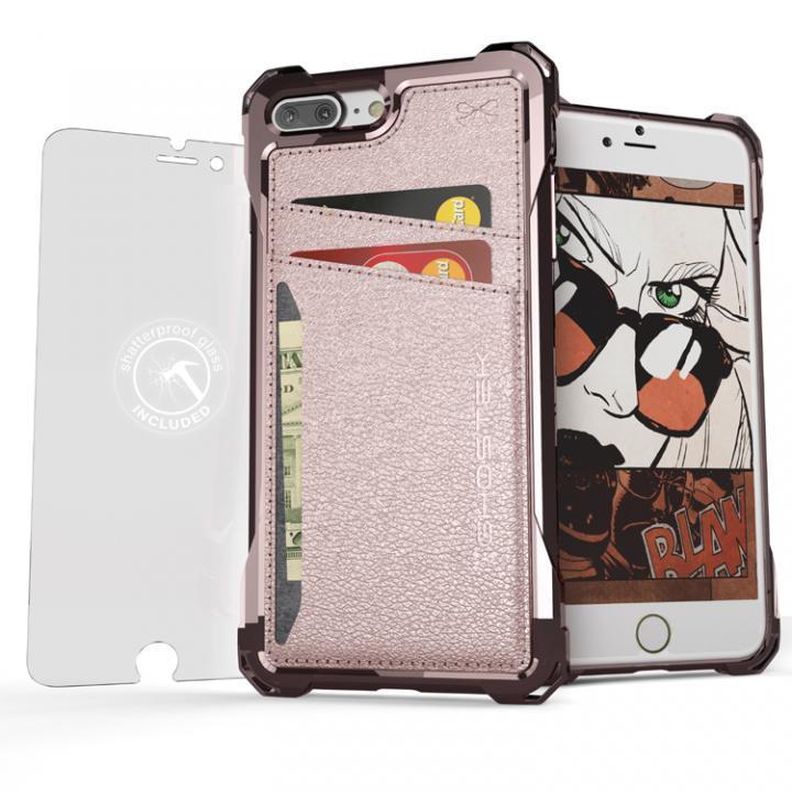 iPhone7 Plus ケース TPU+PUレザー ハイブリッドウォレットケース Ghostek Exec ピンク iPhone 7 Plus_0