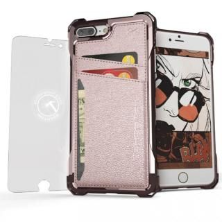 TPU+PUレザー ハイブリッドウォレットケース Ghostek Exec ピンク iPhone 7 Plus