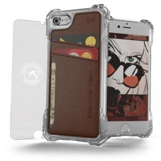 【iPhone7 ケース】TPU+PUレザー ハイブリッドウォレットケース Ghostek Exec クリアブラウン iPhone 7