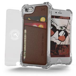 TPU+PUレザー ハイブリッドウォレットケース Ghostek Exec クリアブラウン iPhone 7