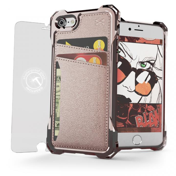 iPhone7 ケース TPU+PUレザー ハイブリッドウォレットケース Ghostek Exec ピンク iPhone 7_0