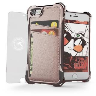 TPU+PUレザー ハイブリッドウォレットケース Ghostek Exec ピンク iPhone 7