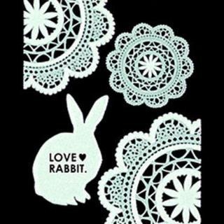蒔絵シール ラッキーアニマル ウサギ