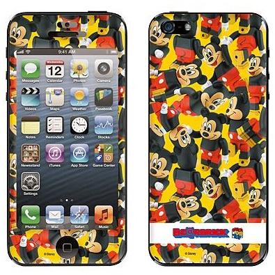 Gizmobies スキンシール ディズニー ミッキーマウス iPhone SE/5s/5