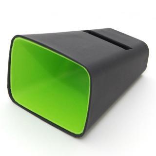 電源不要の紙製スピーカースタンド スマートホーン ブラック×グリーン iPhone 4/4S/5/5S/5C
