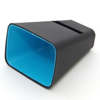 電源不要の紙製スピーカースタンド スマートホーン ブラック×ブルー iPhone 4/4S/5/5S/5C