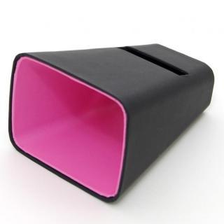 電源不要の紙製スピーカースタンド スマートホーン  ブラック×ピンク iPhone 4/4S/5/5S/5C