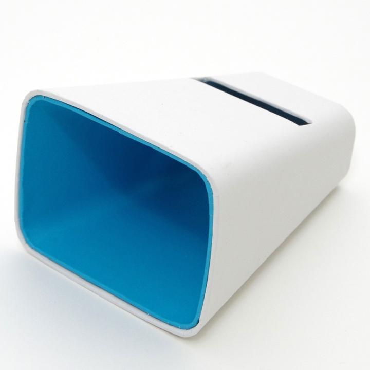 電源不要の紙製スピーカースタンド スマートホーン ホワイト×ブルー iPhone 4/4S/5/5S/5C