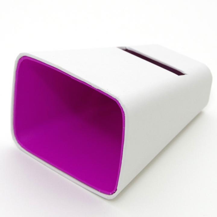 電源不要の紙製スピーカースタンド スマートホーン ホワイト×パープル iPhone 4/4S/5/5S/5C_0