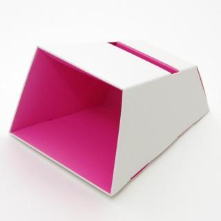 電源不要の紙製スピーカースタンド スマートホーンCRAFT ホワイト×ピンク iPhone 4/4S/5/5S/5C