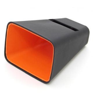 【50%OFF】電源不要の紙製スピーカースタンド スマートホーン ブラック×オレンジ iPhone 4/4S/5/5S/5C