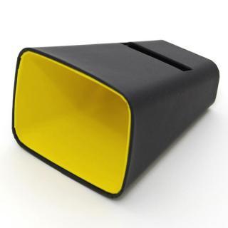 電源不要の紙製スピーカースタンド スマートホーン ブラック×イエロー iPhone 4/4S/5/5S/5C