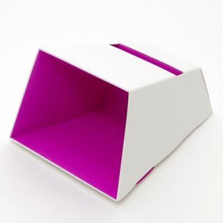 電源不要の紙製スピーカースタンド スマートホーンCRAFT ホワイト×パープル iPhone 4/4S/5/5S/5C