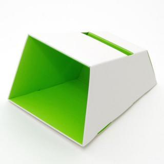 電源不要の紙製スピーカースタンド スマートホーンCRAFT ホワイト×グリーン iPhone 4/4S/5/5S/5C