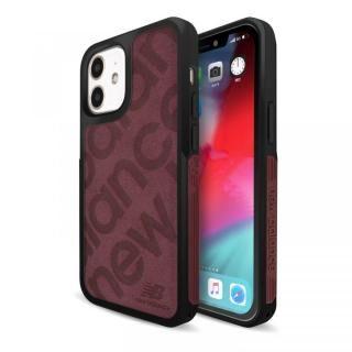 iPhone 12 mini (5.4インチ) ケース New Balance サイドオーナメントケース/スタンプロゴスエード バーガンディ iPhone 12 mini【8月上旬】