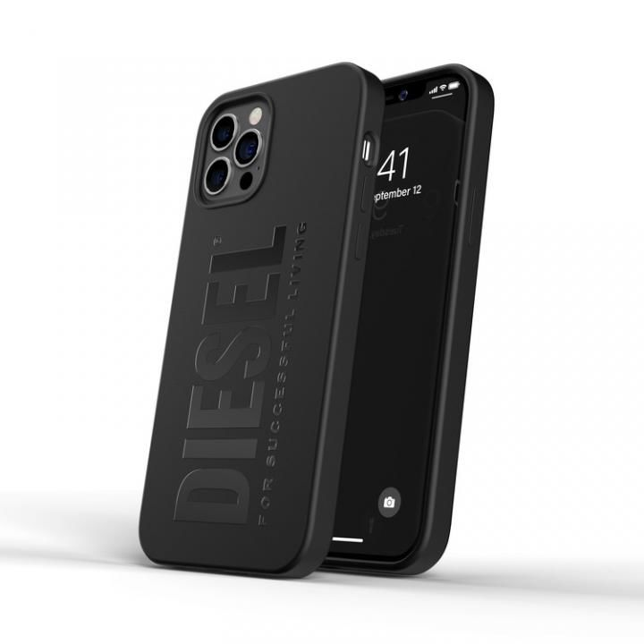 DIESEL Silicone Case SS21 Black iPhone 12/12 Pro【4月下旬】_0