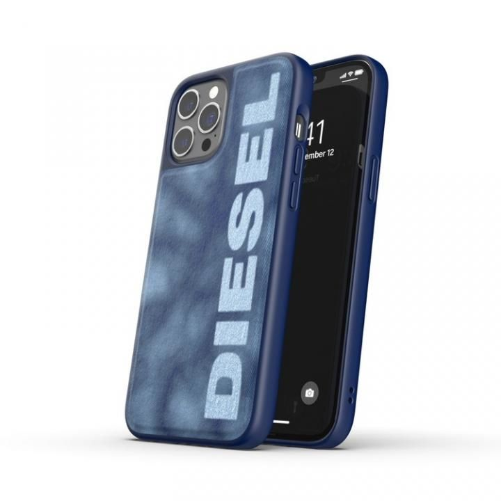 DIESEL Moulded Case Bleached Denim SS21 Blue/White iPhone 12 Pro Max_0