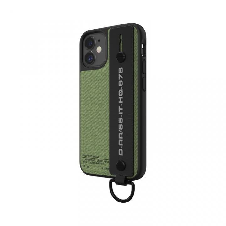DIESEL Handstrap Case Utility Twill SS21 Black/Green iPhone 12 mini_0