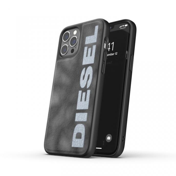DIESEL Bleached Denim Case SS21 Grey/White iPhone 12 Pro Max_0
